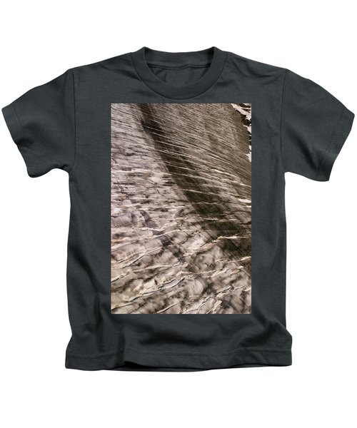 Crevasse Patterns On The Brady Glacier Kids T-Shirt