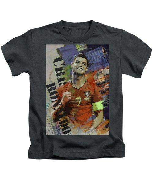 Cristiano Ronaldo - B Kids T-Shirt by Corporate Art Task Force