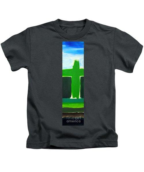Green Cross On Hill Kids T-Shirt