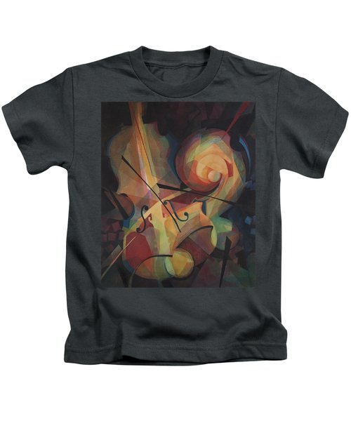 Cubist Play - Abstract Cello Kids T-Shirt
