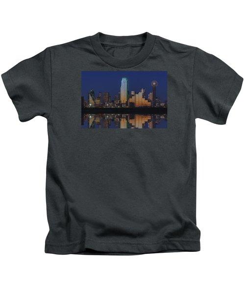 Dallas Aglow Kids T-Shirt by Rick Berk