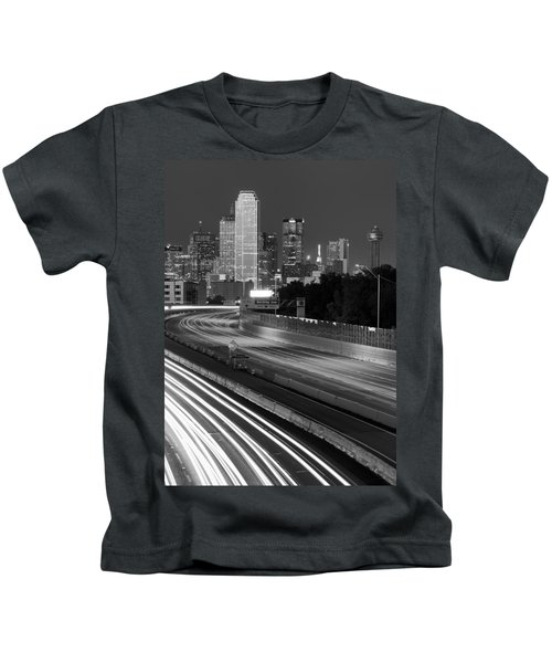 Dallas Arrival Bw Kids T-Shirt