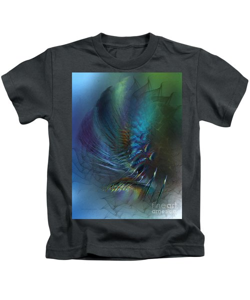 Dancing With The Wind-abstract Art Kids T-Shirt