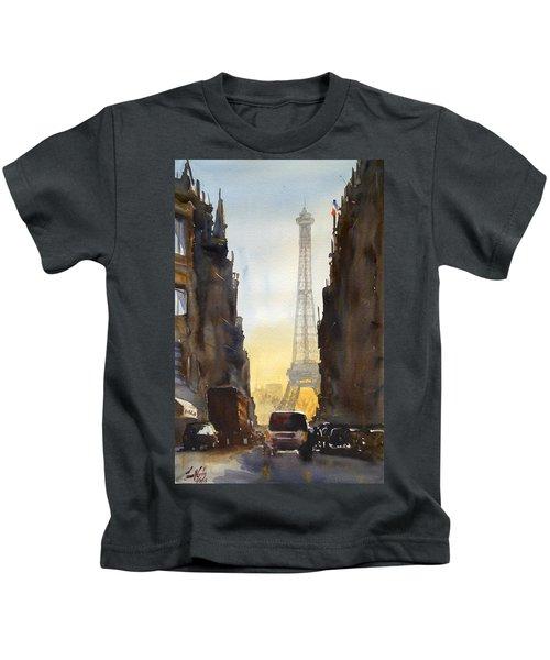 Dawn In Paris Kids T-Shirt