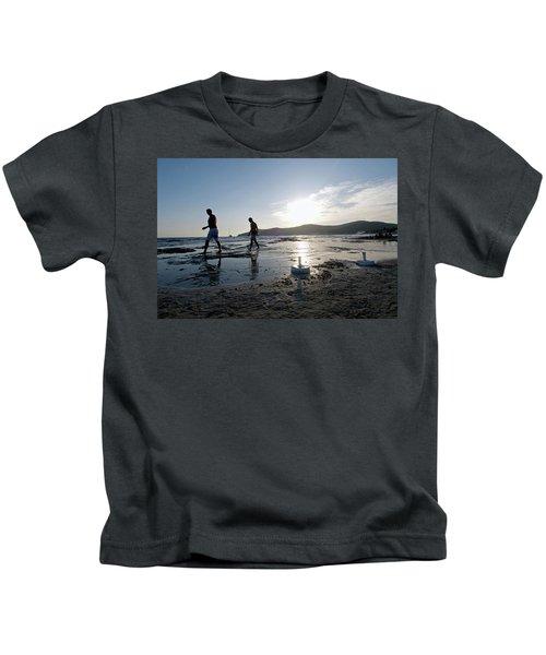 Daylife In Salinas Beach. Named Kids T-Shirt