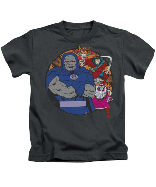 Dc - Apokolips Represent Kids T-Shirt