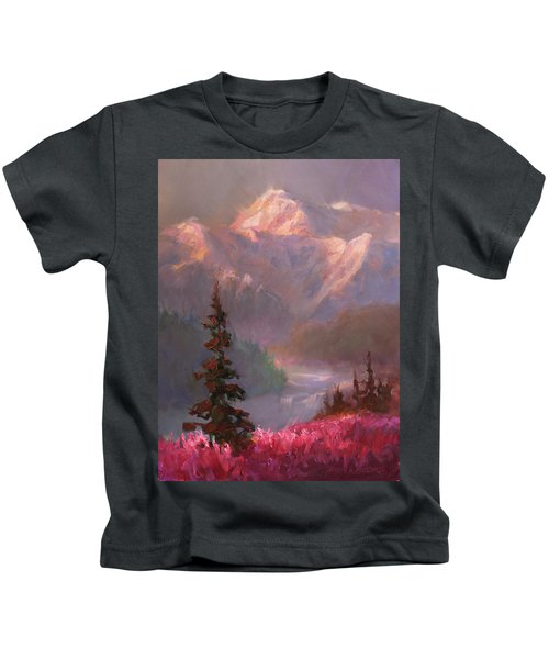 Denali Summer - Alaskan Mountains In Summer Kids T-Shirt