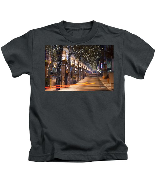 Denver's 16th Street Mall At Christmas Kids T-Shirt
