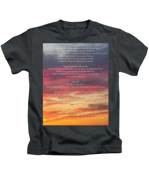 Desiderata Sky 2 Kids T-Shirt