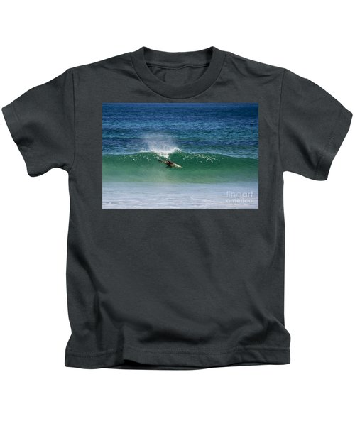 Diving Beneath The Curl Kids T-Shirt