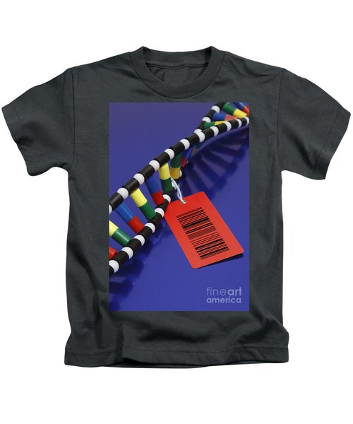 Dna Double Helix With Barcode Kids T-Shirt