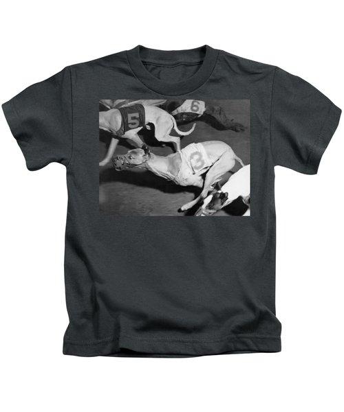 Dog Racing Track Kids T-Shirt