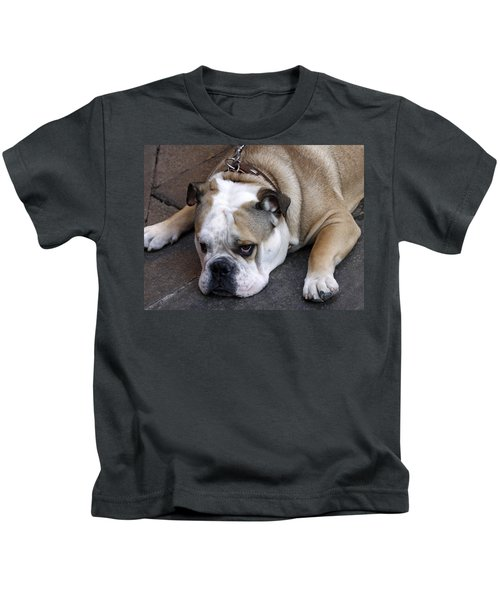 Dog. Tired. Kids T-Shirt