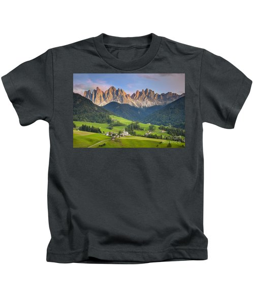 Dolomites From Val Di Funes Kids T-Shirt