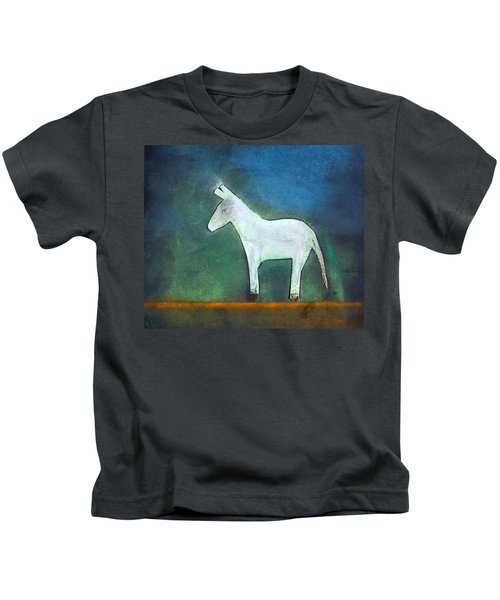 Donkey, 2011 Oil On Canvas Kids T-Shirt by Roya Salari