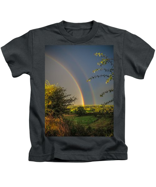 Double Rainbow Over County Clare Kids T-Shirt