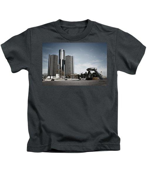 Downtown Detroit Kids T-Shirt