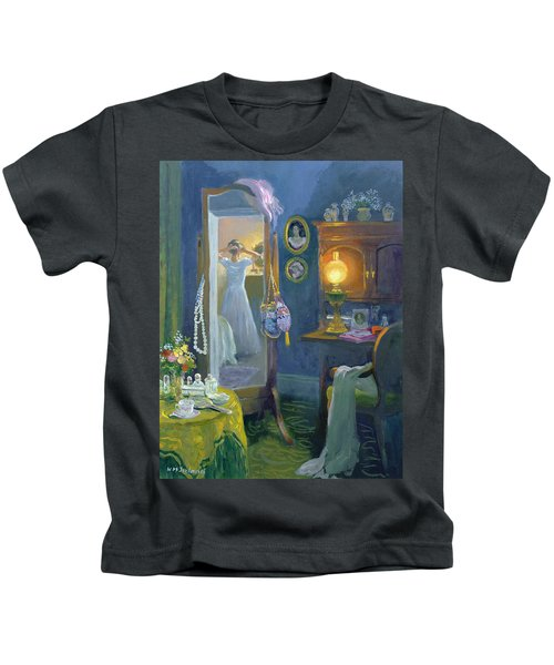 Dressing Room Victorian Style Oil On Board Kids T-Shirt