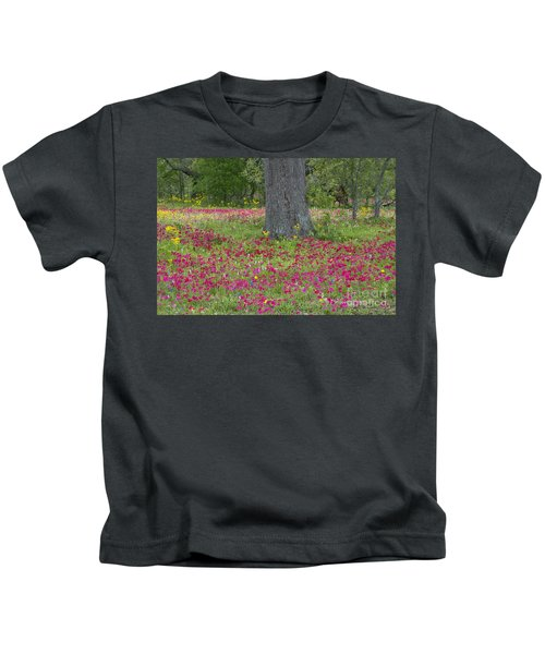 Drummonds Phlox And Crown Tickweed Central Texas Kids T-Shirt