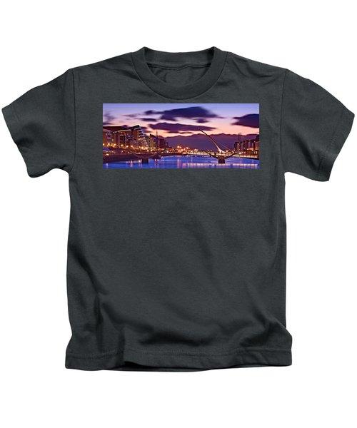 Dublin Docklands At Dawn / Dublin Kids T-Shirt