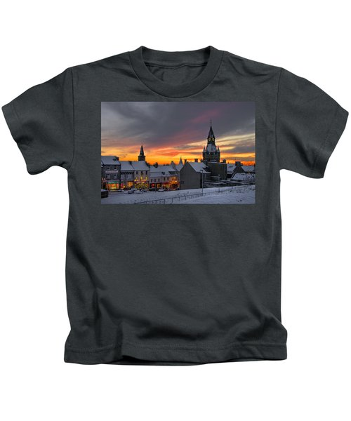 Dunfermline Winter Sunset Kids T-Shirt