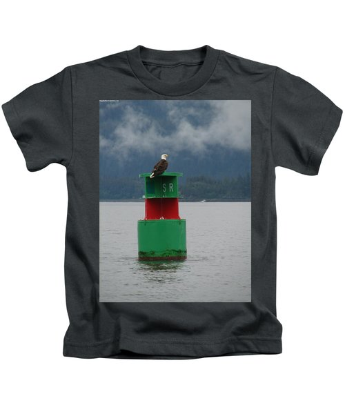 Eagle On Bouy Kids T-Shirt