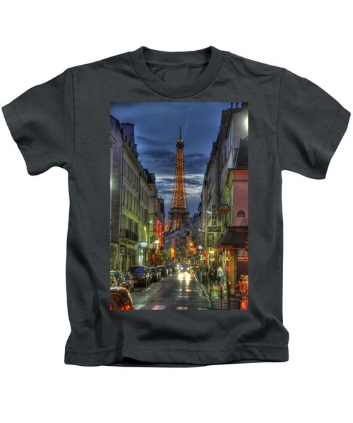 Eiffel Over Paris Kids T-Shirt