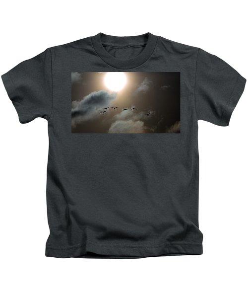 Evening Flight Kids T-Shirt