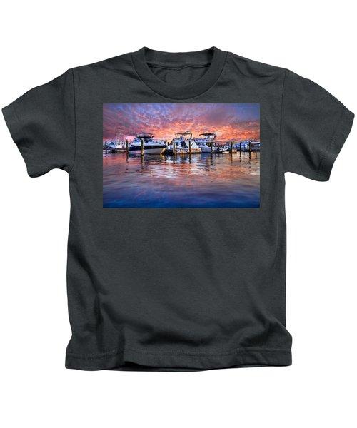 Evening Harbor Kids T-Shirt