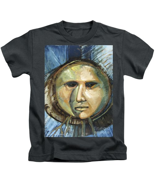 Faced With Blue Kids T-Shirt