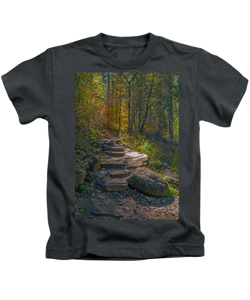 West Fork At Oak Creek Kids T-Shirt