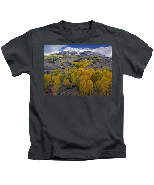 Fall Colors At Chair Mountain Colorado Kids T-Shirt
