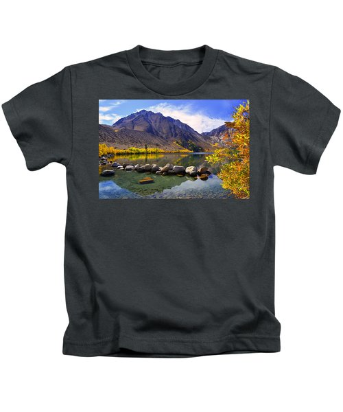 Fall Colors At Convict Lake  Kids T-Shirt