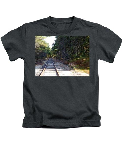 Fall Railroad Track To Somewhere Kids T-Shirt