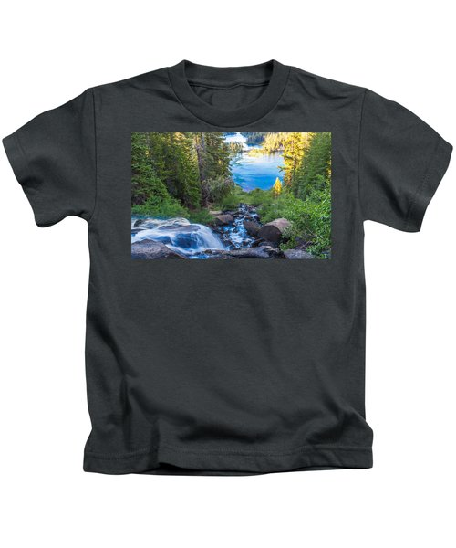 Falling Down To The Lakes Kids T-Shirt