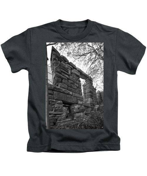 Falling Wall Jerome Black And White Kids T-Shirt