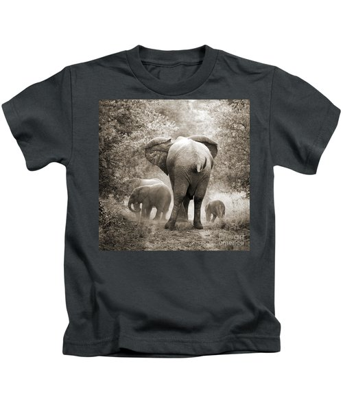 Family Of Elephants Kids T-Shirt