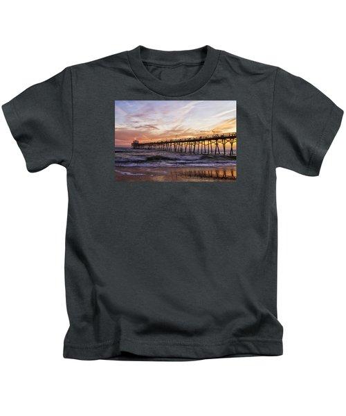 Febuary Sunset On Atlantic Beach Kids T-Shirt