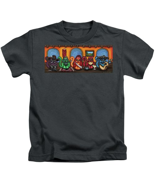 Fiesta Cats Or Gatos De Santa Fe Kids T-Shirt