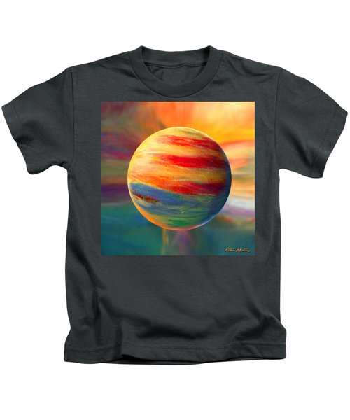 Fire And Ice Ball  Kids T-Shirt