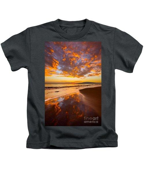 Fire Over Lahaina Kids T-Shirt