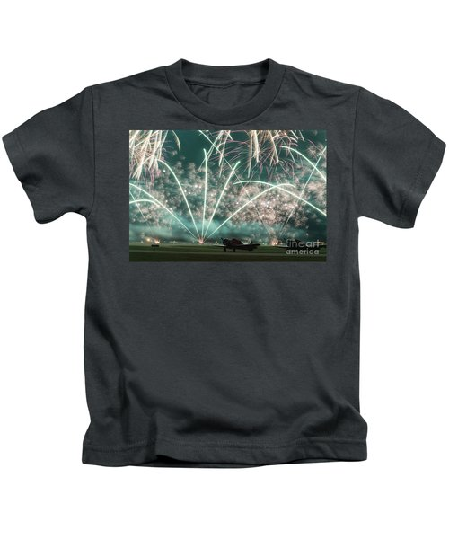 Fireworks And Aircraft Kids T-Shirt