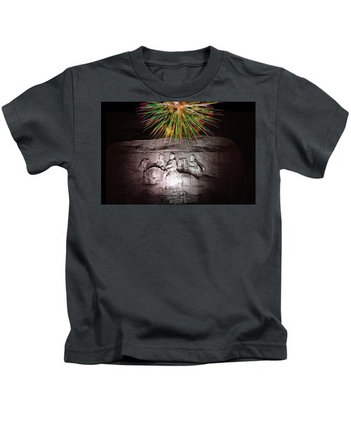 Fireworks Over Stone Mountain Kids T-Shirt