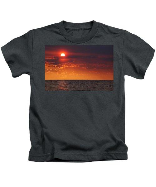 Fishing Till The Sun Goes Down Kids T-Shirt