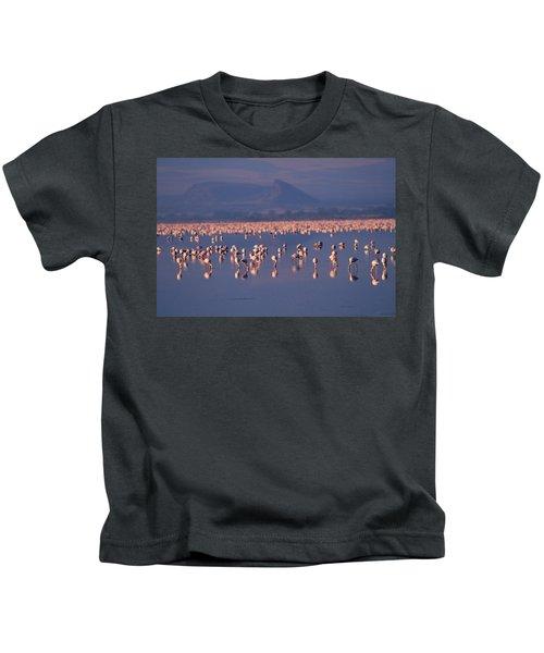 Flamingoes, Rift Valley, Kenya Kids T-Shirt