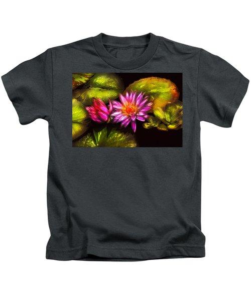 Flower - Lotus - Soaking In Sunlight Kids T-Shirt