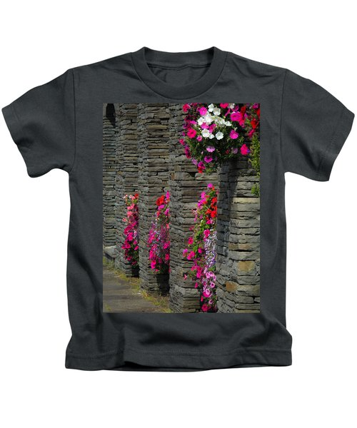 Flowers At Liscannor Rock Shop Kids T-Shirt