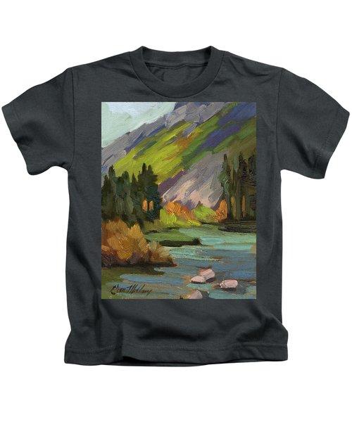 Fly Fishing Pond Kids T-Shirt
