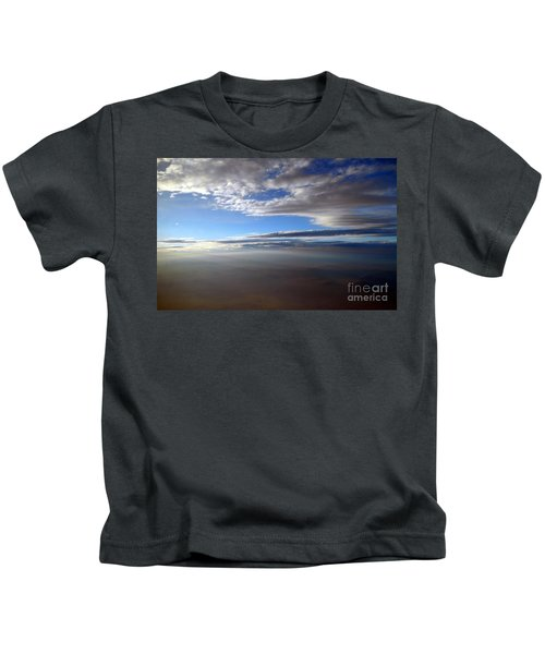Flying Over Southern California Kids T-Shirt