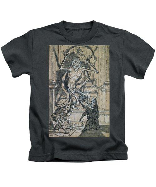 Four Grave Robbers Awaken A Ghost Kids T-Shirt